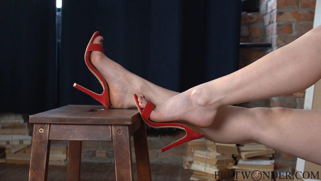 sexy feet in high heeles