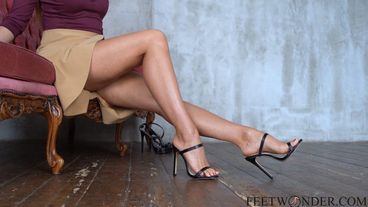 crossed female legs