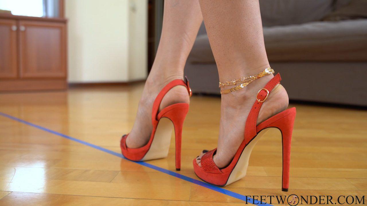 feet on high heels