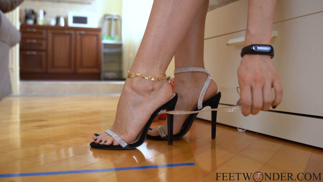 legs and feet on heels