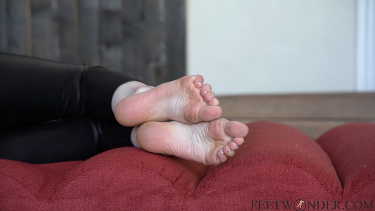 wrinkled soles and feet