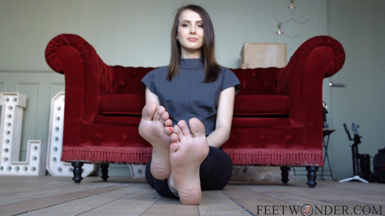 Crossed feet and soles