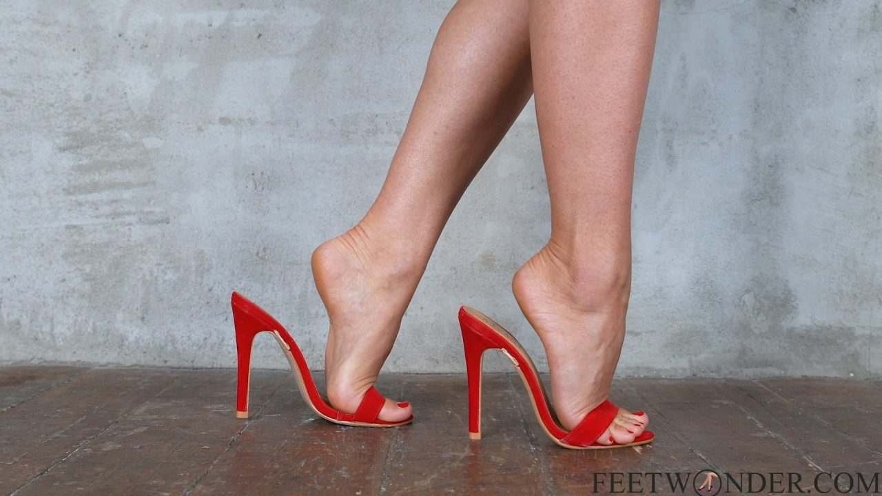 Perfect Feet With Red Toes