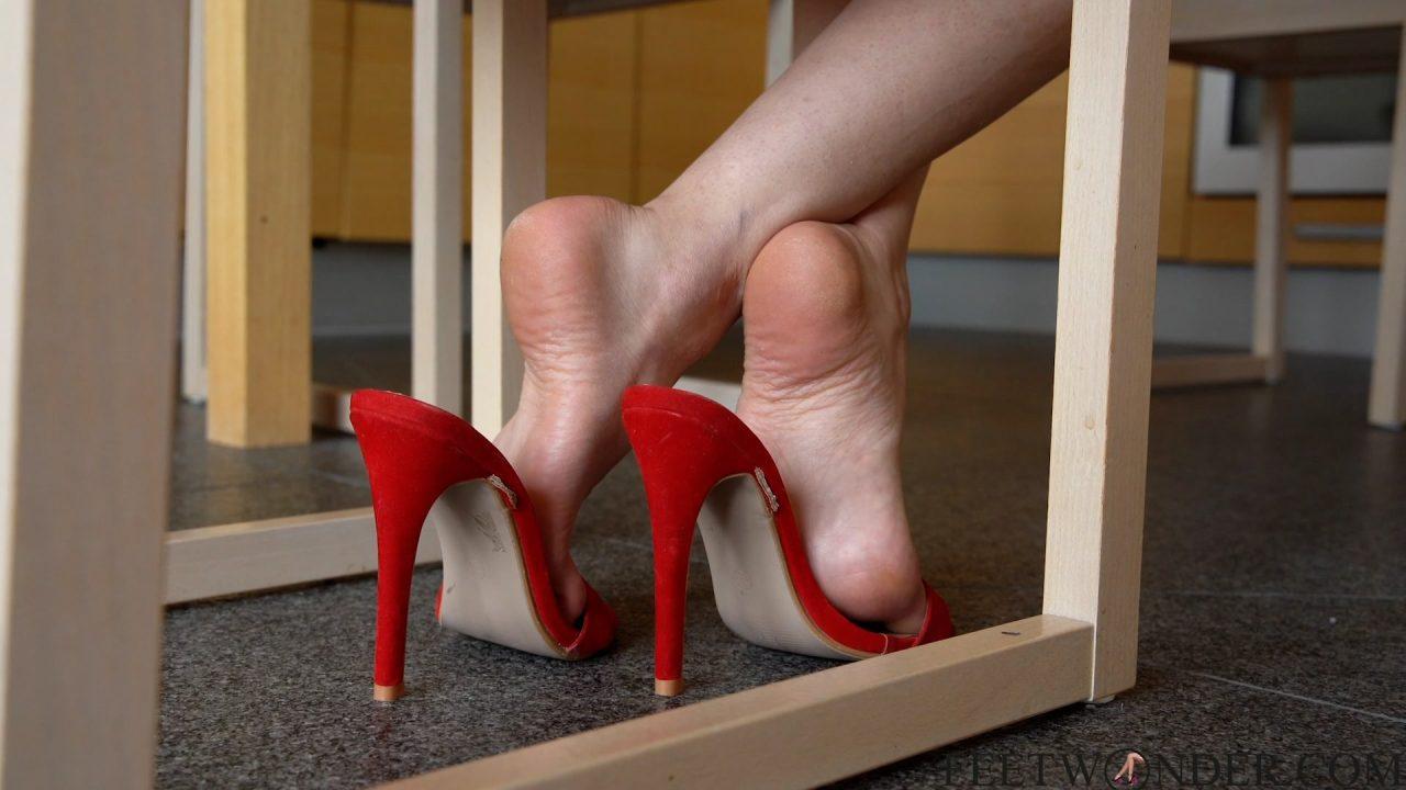 beautiful female feet and soles