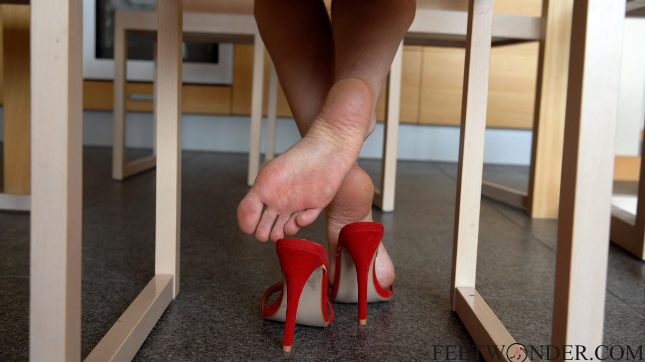 sexy feet under the table