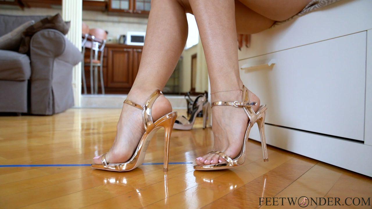 Walking In Very High Heels