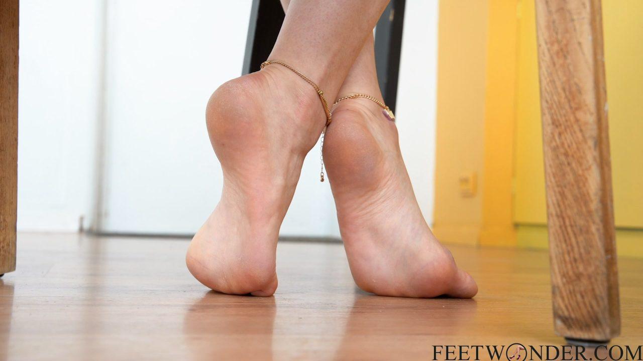 barefoot beautiful girl