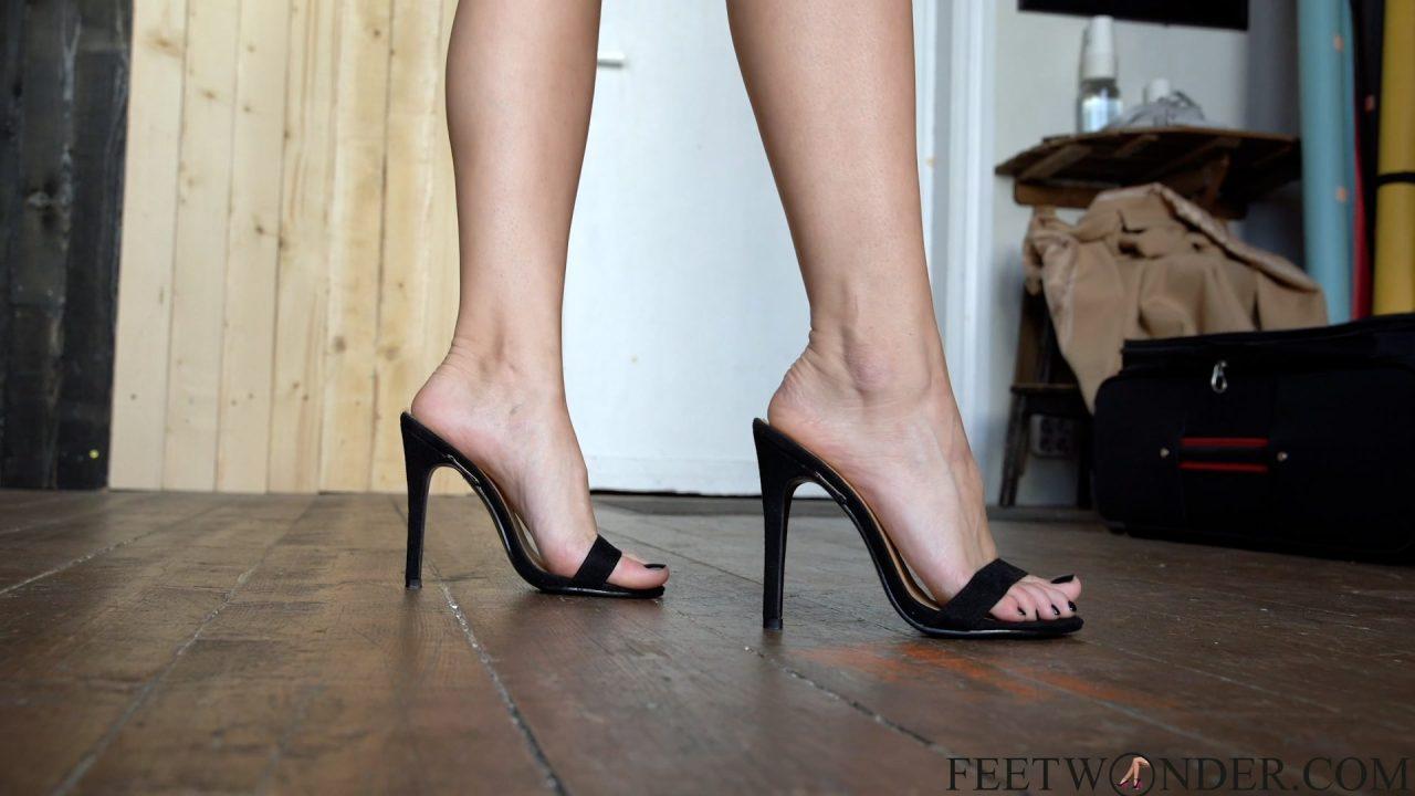 girl in high heels walking