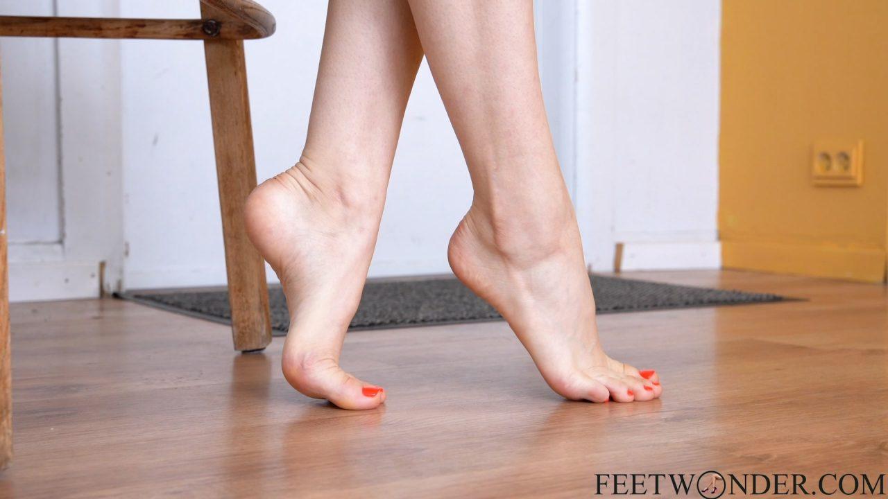 crossed female feet