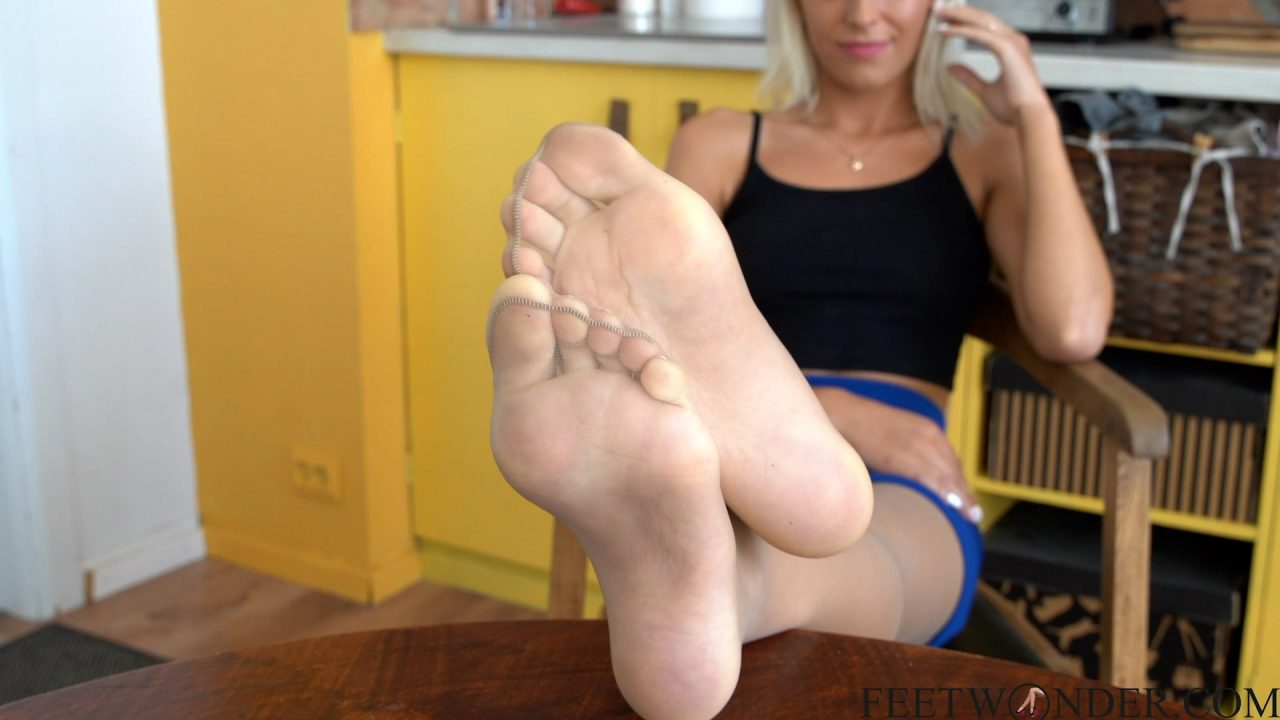 sexy feet and soles in nylon