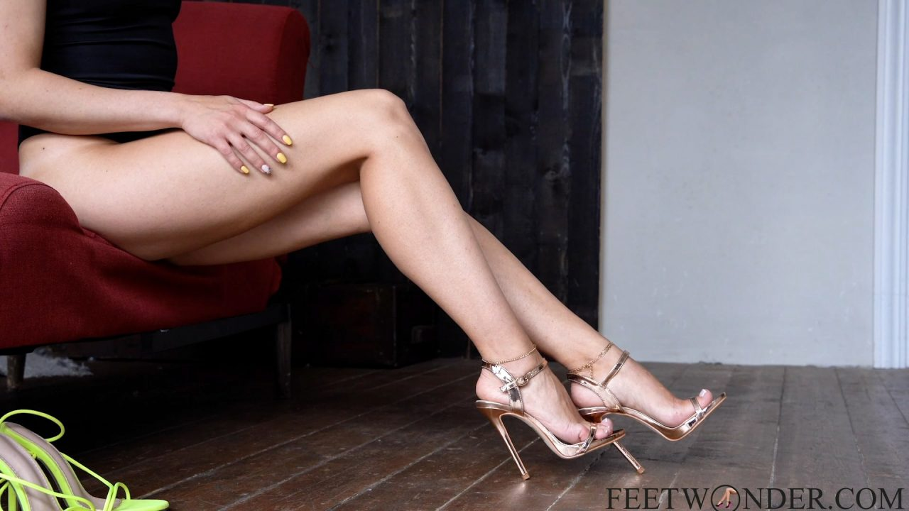Long Legs In High heeled shoes
