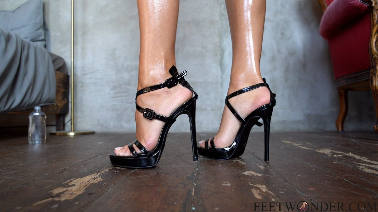 feet with french toes and high heels