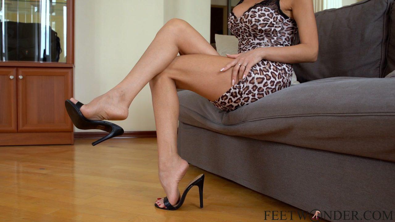 dangling with high heels