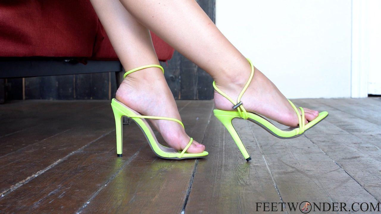 small feet in high heels
